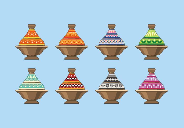 Tajine in Marokko vector