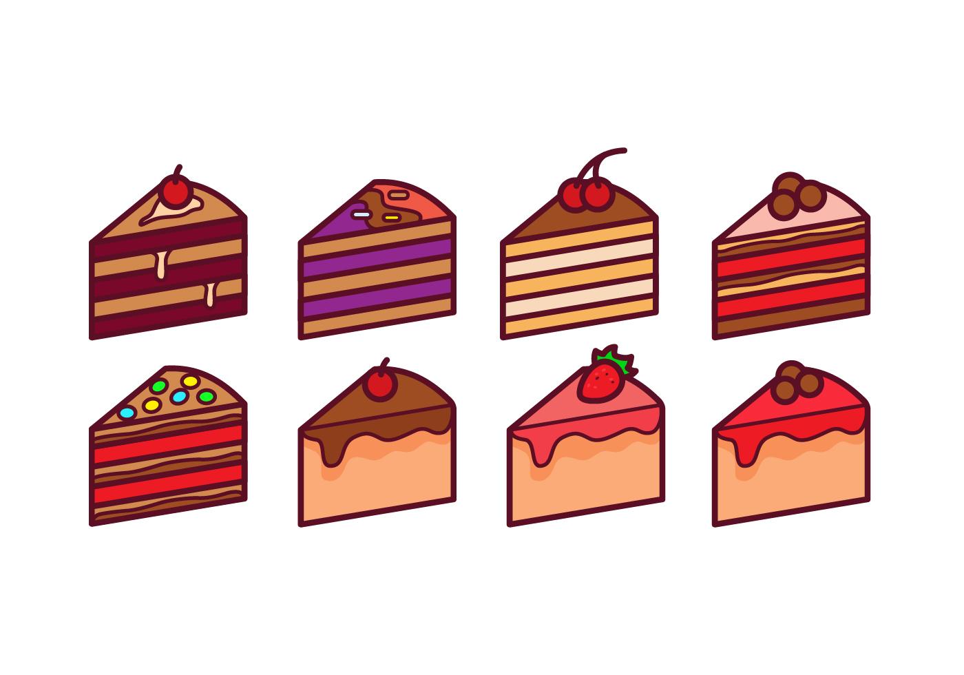 Cake Slice Vector Pack Download Free Vector Art Stock