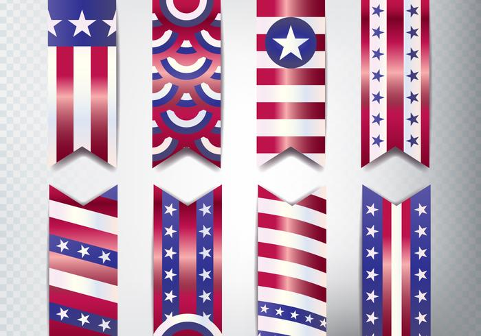 Conjunto de Banner do Memorial Day