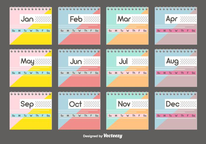 Desktop Calendar Template Set