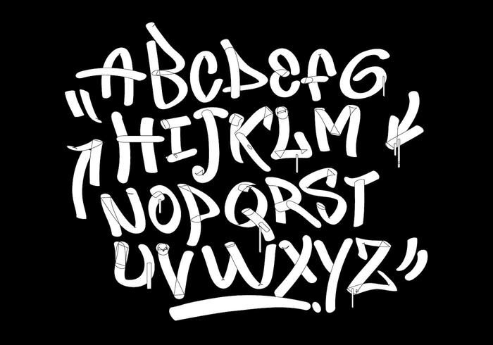 Graffiti markör taggar stil