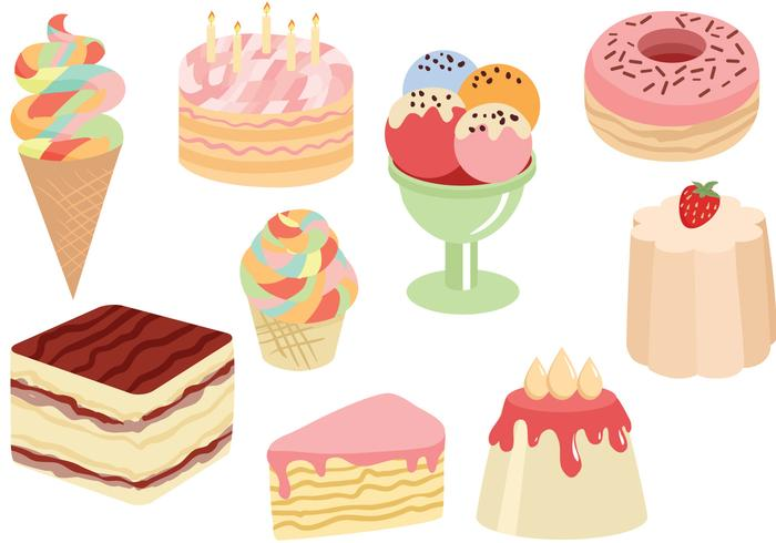 Free Sweets Cakes Vectors