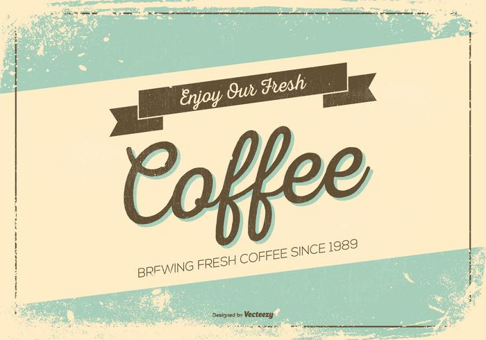 Retro Grunge Style Promotional Coffee Poster