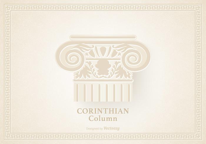 Capital Of The Corinthian Column Vector