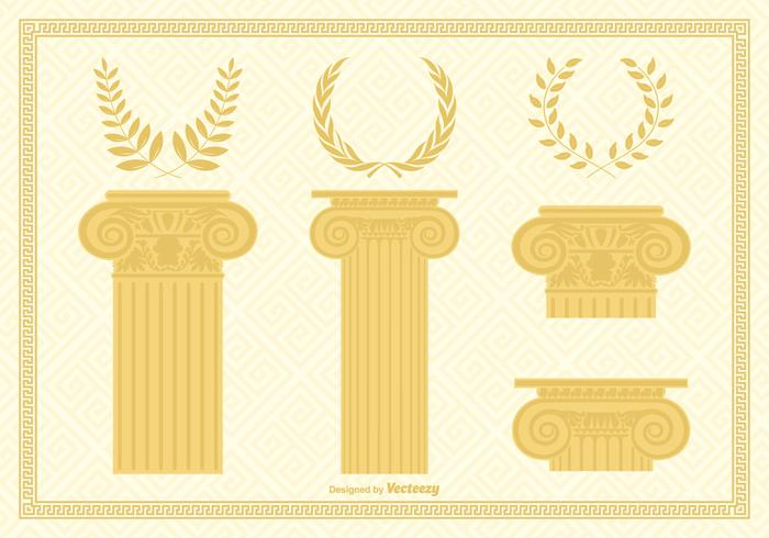 Corinthian Capital Columns And Wreaths