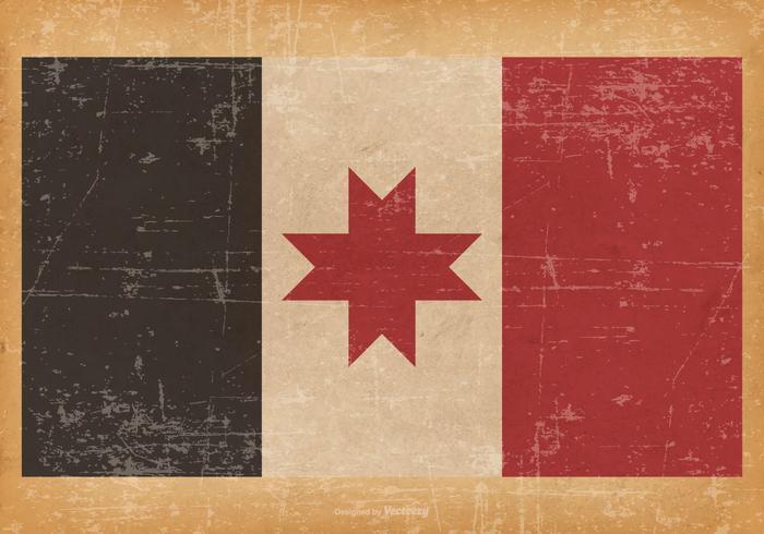 Ancien drapeau grunge d'Udmurtia
