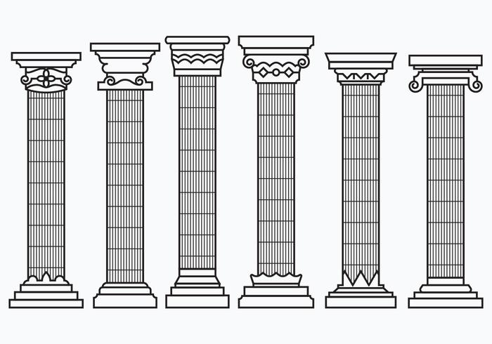 Set of Corinthian Columns