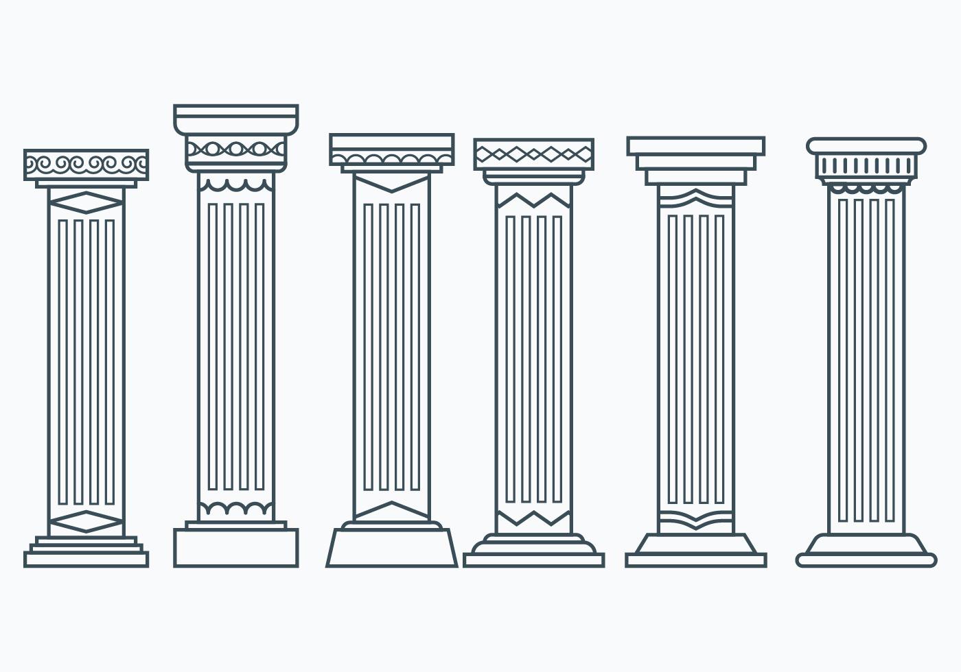 как только картинки древнегреческих колонн число