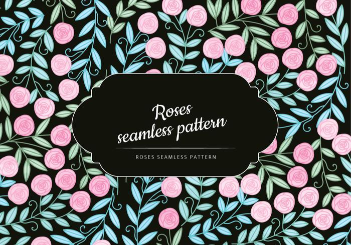 Rosas Vector Seamless Pattern