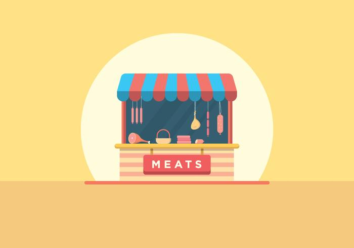 Butcher and Charcuterie Shop vector