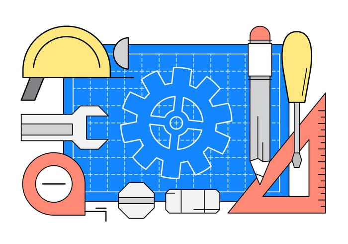 Linear Engineering Vector Icons