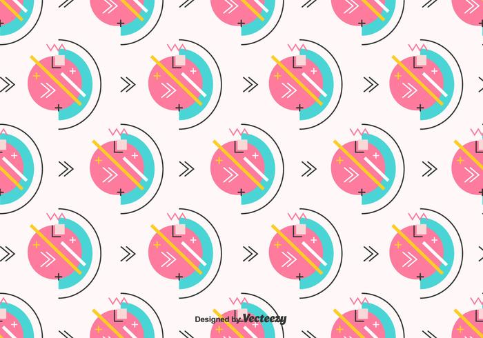 Retro Geometric Vector Pattern