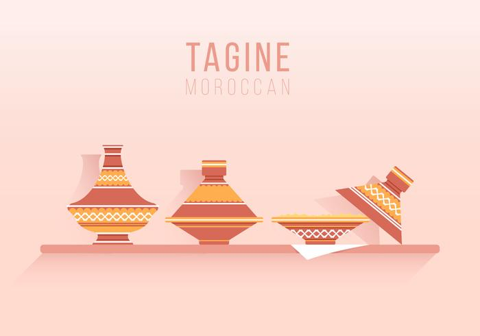 Tajine Moroccan Traditional Food Illustration