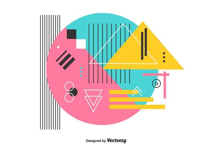 Vecteur géométrique coloré