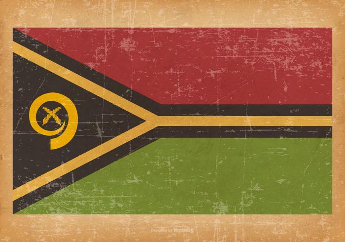 Old Grunge Flag of Vanuatu vektor