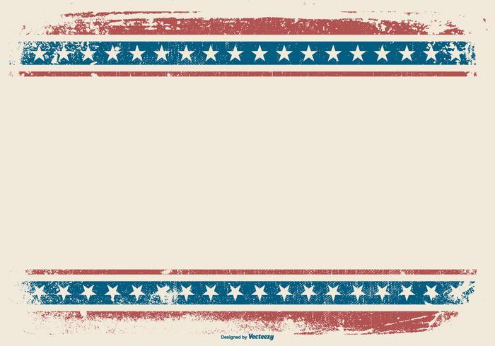 Fondo patriótico del estilo del Grunge