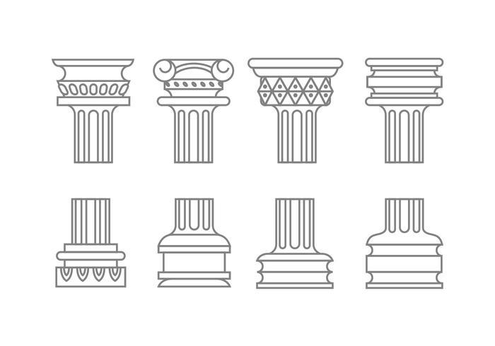 Romeinse kolomvectoren vector