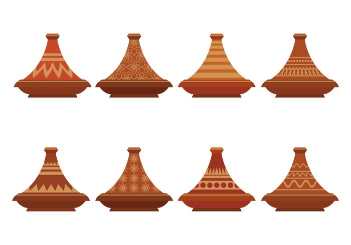 Tajine Vector Icons Set