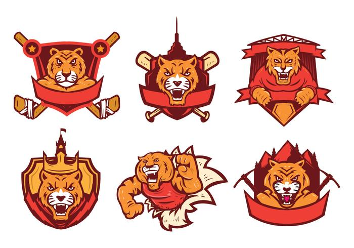 Free Tigers Logo Vector Set