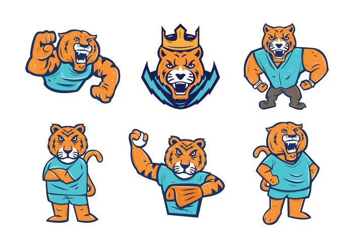 Free Tigers Mascot Vector