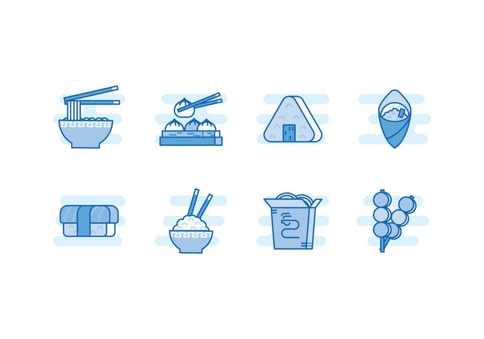 Free Asian Food Vector Icons