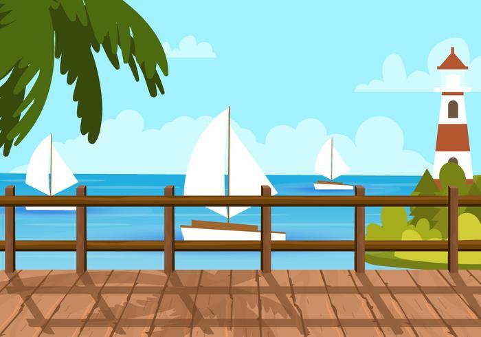 Vista de la playa de Boardwalk