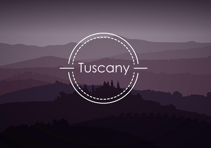 Tuscany Background Free Vector