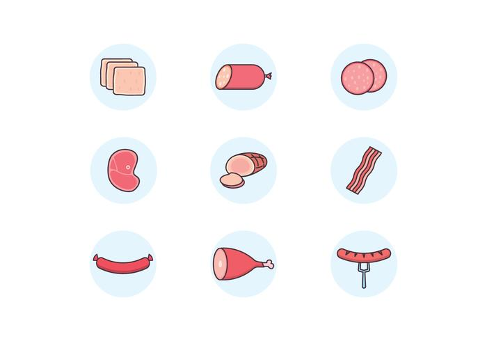 Meat Products Icons