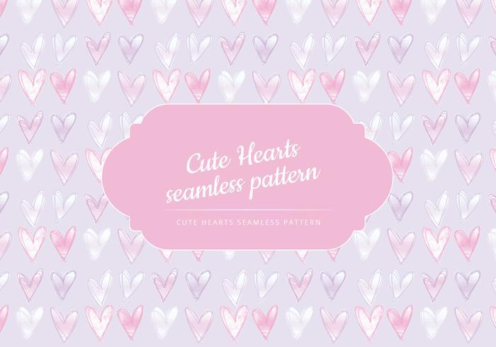 Vector Cute Hearts Seamless Pattern