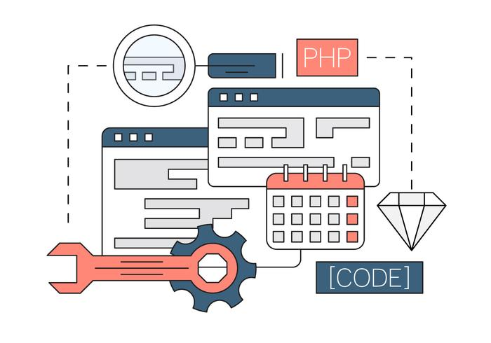 Free Linear Web Development Vectors