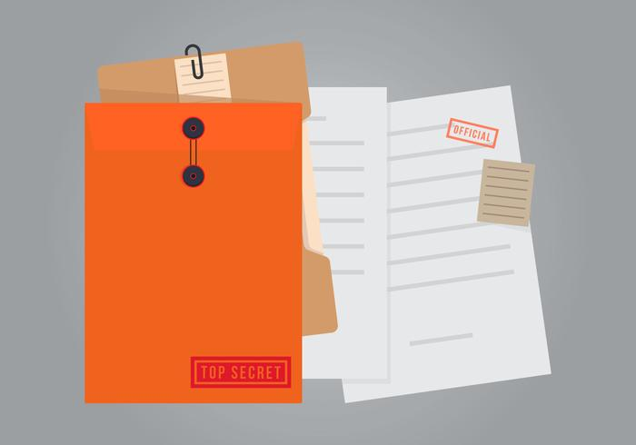 Documents secrets officiels avec illustration de cache