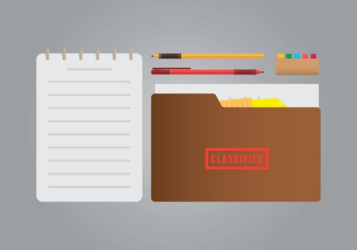 Classified Cachet and Stationery Illustration