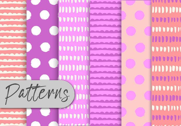 Conjunto de patrones abstractos de color rosa