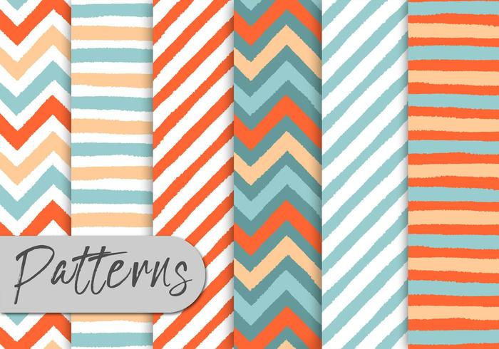 Colorful Stripes Pattern Set