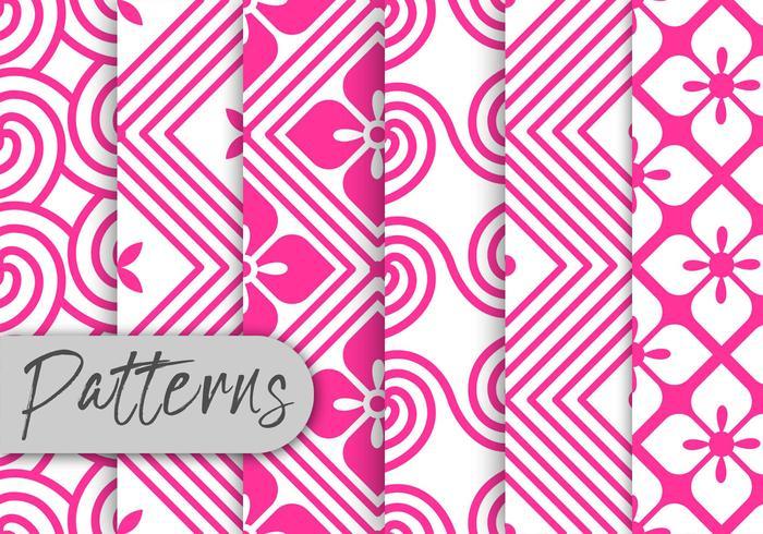 Pink Rosete Pattern Set