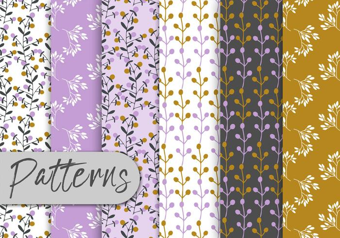 Romantic Floral Pattern Set