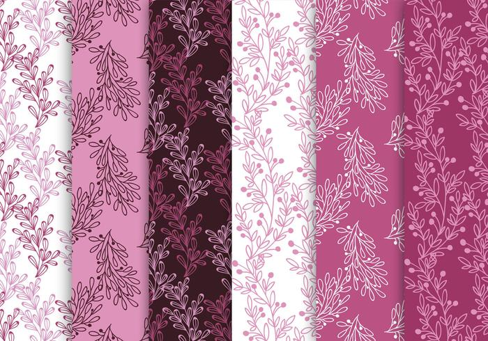 Conjunto de padrões rosa e roxo