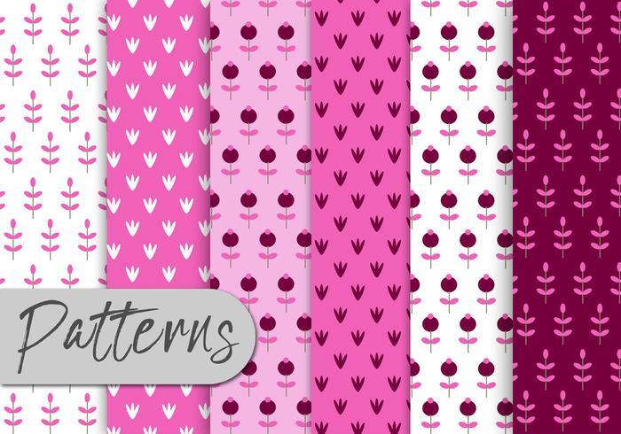 Pink Nature Pattern Set