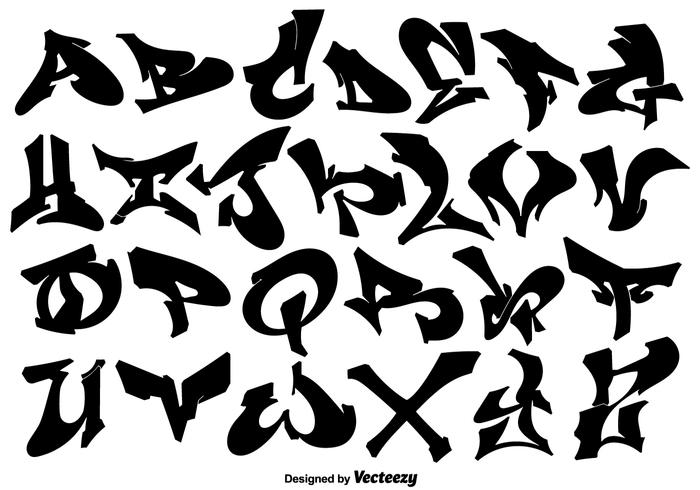vector hip hop style graffiti letters