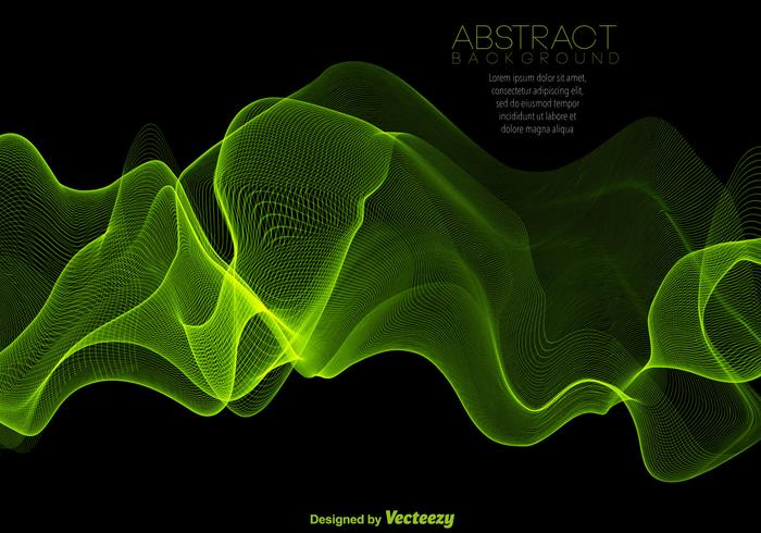 Abstract Green Spectrum Background - Vector