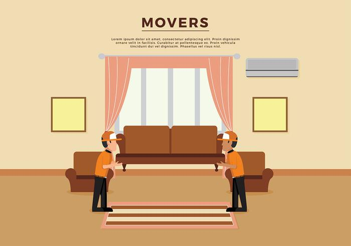 Movers Illustration Template Free Vector