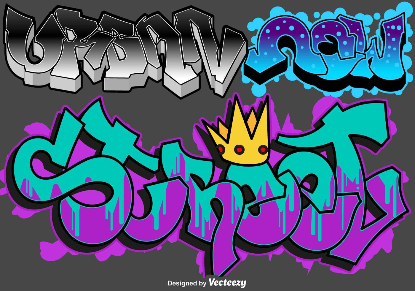 Vector graffiti urban art set download free vector art stock graphics images