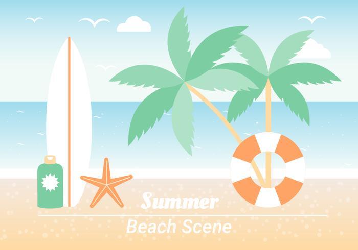 Summer Beach Elements Background