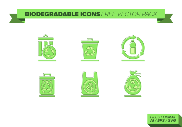 Biodegradable Icons Free Vector Pack