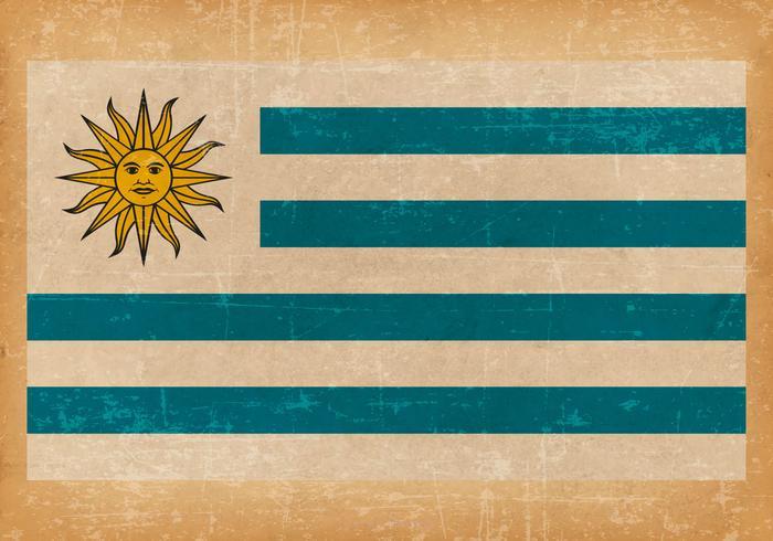 Old Grunge Flag of Uruguay
