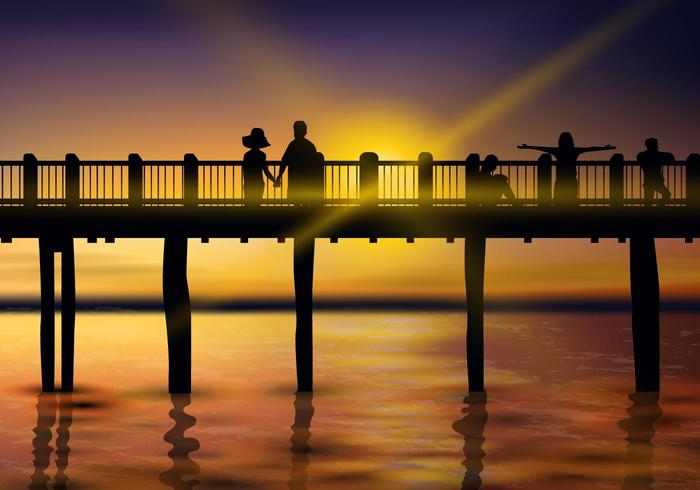 Beautiful Sunset Boardwalk