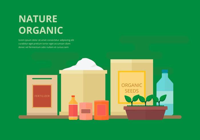 Fertilizante orgânico, ilustração plana biodegradável