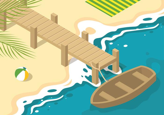 Boardwalk Isometric Free Vector
