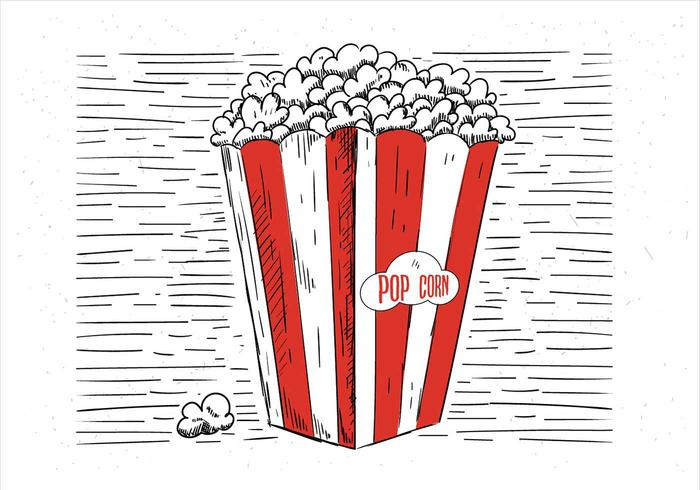 Free Hand Drawn Vector Pop Corn Illustration