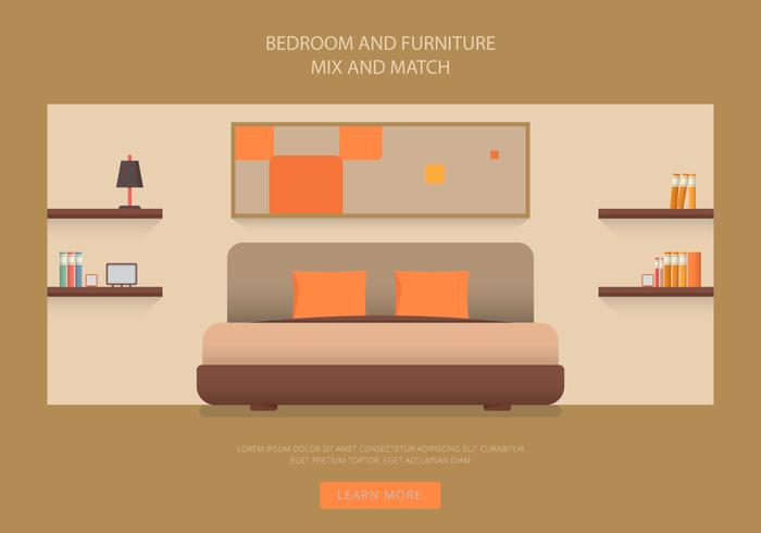 Headboard Bedroom and Furniture Vectors